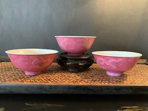 Three-Antique-Chinese-Porcelain-Bowls
