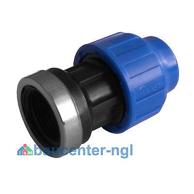 """PE-Rohr Adapter einseitig mit Innengewinde IG 20mm 25mm 32mm 1/2"""" 3/4"""" 1"""""""