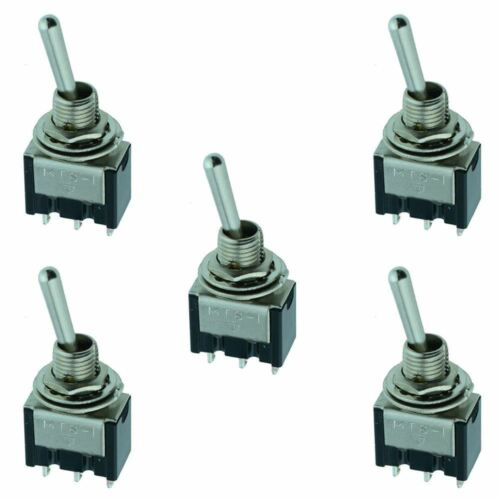 Momentary Miniature Toggle Switch SPDT On 5 x On-