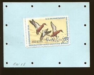 New york 1971 hunting license back tag rw38 federal duck for Louisiana non resident fishing license