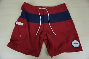 Apolis-Citizen-Red-Blue-Standard-Issue-Swim-Trunks-Sz-32