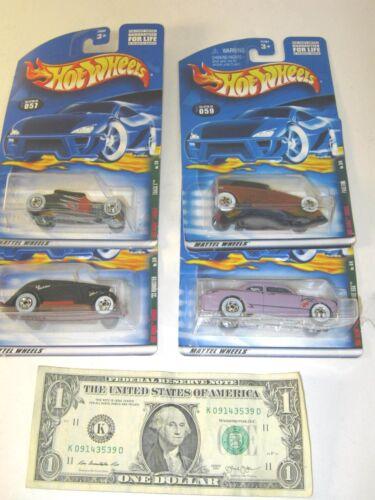 Lot of 4 Rat Rods Complete Series Set Hot Wheels Die Cast Cars