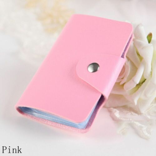 Cases Wallet Candy Color 24 Slots Organizer Cute Card Holder PU Leather