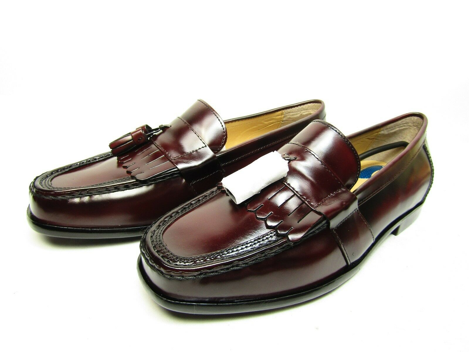 Nunn Bush Keaton Kiltie Tasseled Leather Dress shoes Burgundy Size 11M