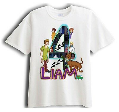Scooby Doo Shirt Personalized Birthday T shirt Gift Tee For Boys Girls Toddler