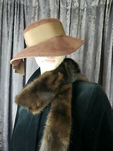 Stylish Vintage Henry Pollack Glenover Cloche Hat with Satin /& Netting Details