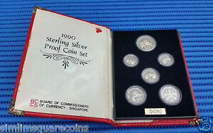 1990-Singapore-Sterling-Silver-Proof-Coin-Set-1-1-Coin