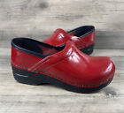 Dansko Red Patent Leather Clogs Shoes Kids Size 33