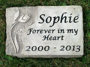 personalized memorial garden stone engraved limestone ebay