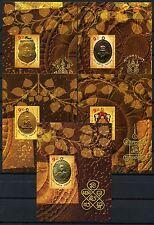 Thailand 2012 Amulette Buddhistischer Mönche Medaillons Block 292-296 MNH
