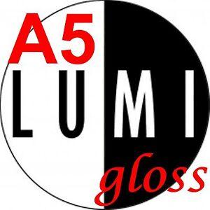 250-GSM-LUCIDO-A5-Stampante-Laser-a-2-x-80-fogli-di-carta-LASER-digitale