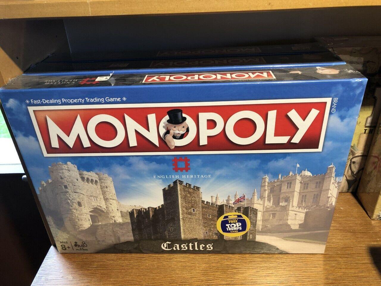 ENGLISH Heritage CASTELLI Monopoly Board Game-RARE da collezione  NUOVO