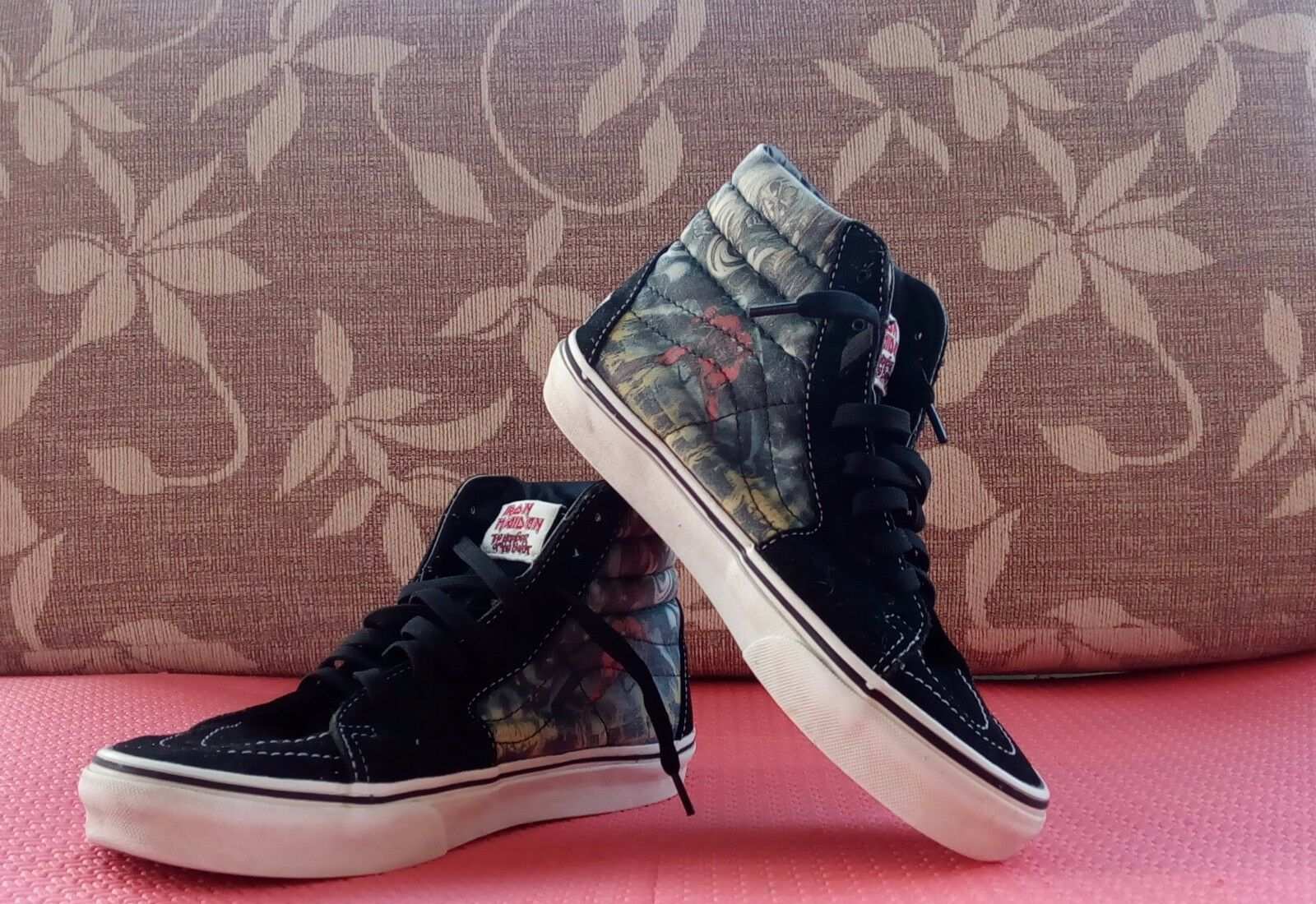 VANS IRON MAIDEN SKATE HI-TOP ORG number of the beast Uomo US 5 Donna US 6.5