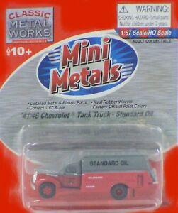 Classic-Metal-Works-HO-Scale-039-41-46-Chevrolet-Tank-Truck-Standard-Oil