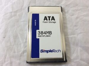 Simple-Technology-ATA-384MB-Flash-Storage-PC-PCMCIA-Memory-Card-SimpleTech