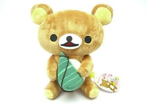 "San-X Rilakkuma Relax Bear Holiday Plush Doll Toy Chimaki Brown Teddy 10"""