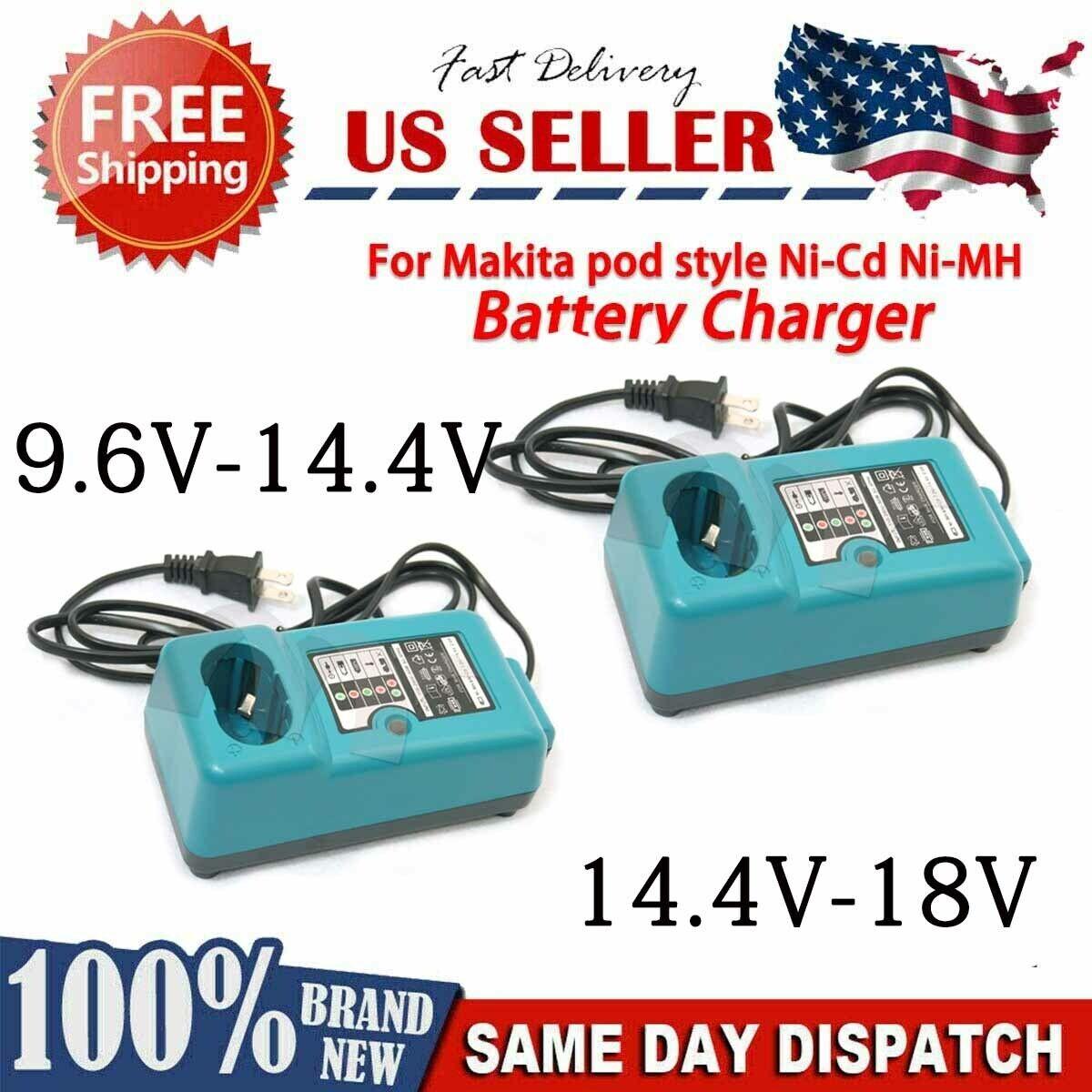 Battery Charger for Makita DC1414 DC1413 DC1411 9.6 -14.4 V/14.4-18V Ni-CD Ni-MH