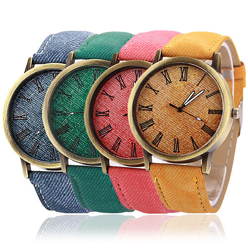 Men Women Vintage Casual Fancy Romal Numerals Dial Analog Quartz Wrist Watch