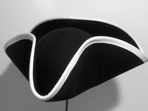 Caricamento dell immagine in corso Cappello-a-tricorno-orlatura-bianca 0eb28a3e91e0