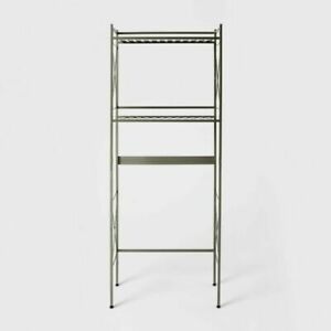 Threshold Square Tube Over The Toilet Etagere Brushed Nickel For Sale Online Ebay