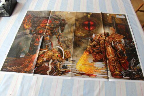 Games Workshop A1 Horus Heresy Poster The Empire Bretonnia Map Warhammer 40k