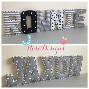 Baby Name Padded Letters Handmade