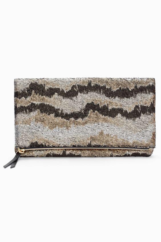 Stella & Dot Metallic Knit Clutch Brand New In Original Package RV