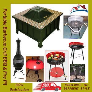 Portable bbq grill bbq terrasse anthracite cooking picnic camping extérieur fête plage-afficher le titre d`origine psy6khvU-07191239-680604723