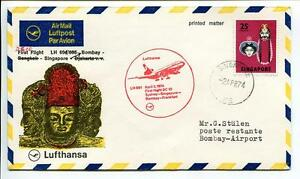 Ffc 1974 Lufthansa Primo Volo Lh 691 Dc-10 - Sydney Singapore Bombay Francoforte
