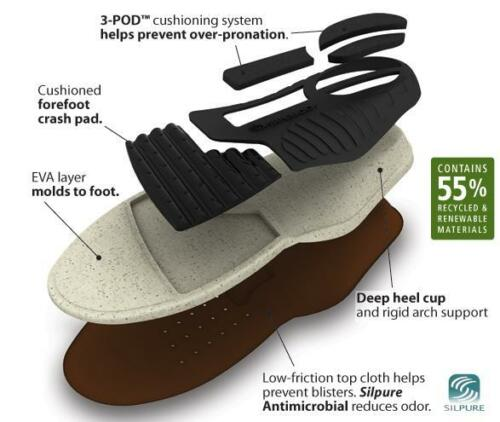 #6 Spenco PolySorb Earthbound Recycled Insole Insert Shoe Size Men 14 14//5 15