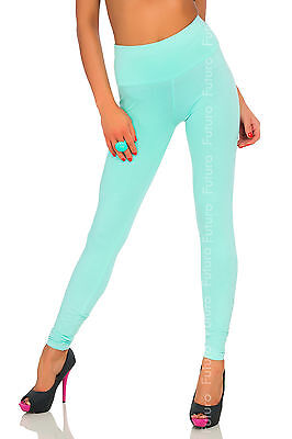 Full Length Leggings With Pockets Stretchy High Waist Trousers Sizes 8-20 LPK