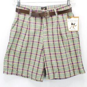 Ladies-Lee-Midrise-Fit-Plaid-Bermuda-Shorts-Size-6M-Medium-New-NWT-Free-Shipping