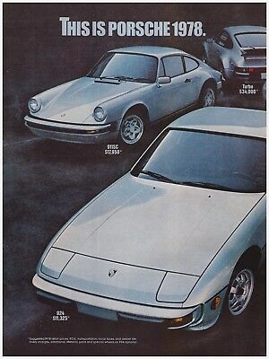 1978 Porsche Brochure 924 911 911 SC Turbo 928 Original 78