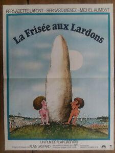 Cartel-el-Rizado-Aux-Lardons-Bernadette-Lafont-Bernard-Plomo-Picara-40x60cm