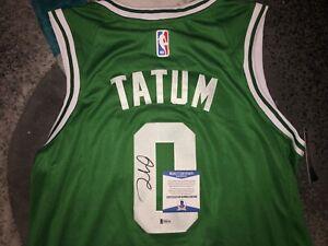 watch 6ec30 90c52 Details about Jayson Tatum Signed Boston Celtics Jersey Superstar Beckett