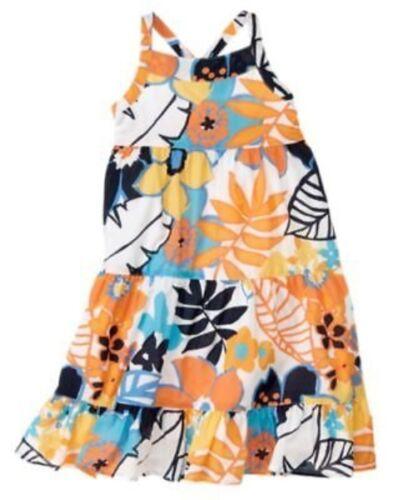 GYMBOREE TROPICAL BLOOM MULTI COLOR FLOWER WOVEN DRESS 3 NWT