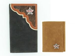 PBR-Pro-Bull-Riders-Brown-Black-Nocona-RODEO-WALLET-Roper-Tri-Fold-18