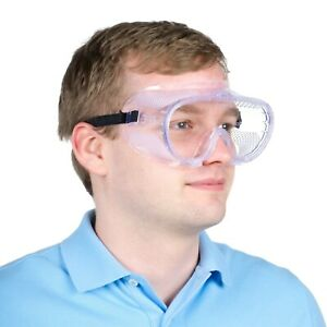 Concealer Clear Anti-Fog Safety Goggles Eye Chemical Face Protection Glasses
