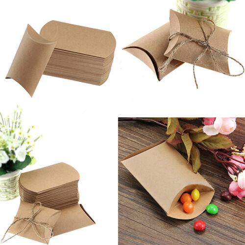 50Pcs KRAFTPAPIER natur Geschenkkarton Geschenkbox Schachtel Karton Geschenk Box