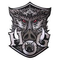 Vegasbee® Hog Huge Wild Boar Head Tattoo Motorcycle Owner Biker Jacket Patch Xl