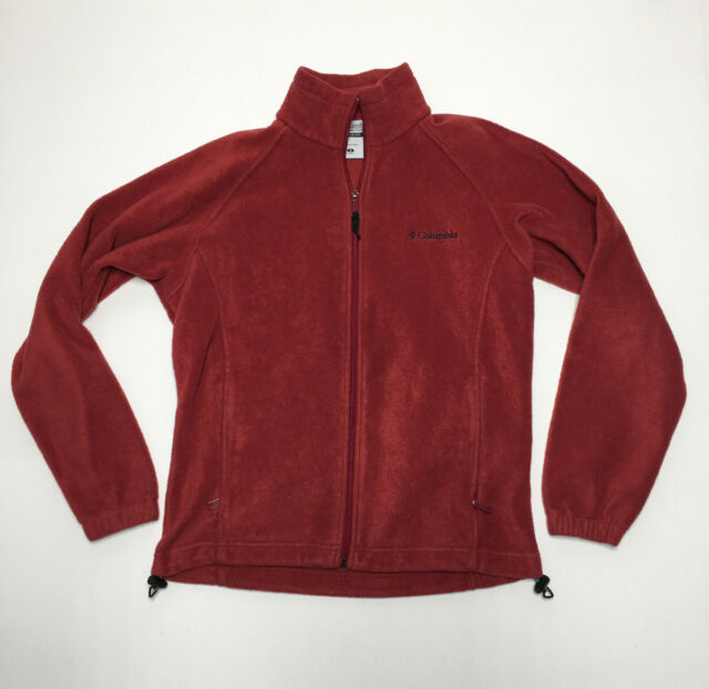 Red Long Sleeve Fleece Zip Up Jacket From Columbia Size Small