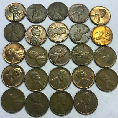 10 for .99 cents Lot of 1950-1958 Wheat Lincoln Pennies