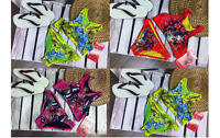 Ed Hardy Girls Summer Bikini Set in Red Hot Pink and Lemon 2 - 14 Years BNWT !!!