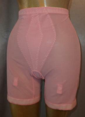 SCULPTING PINK Vintage 1970s LONG LEG GIRDLE SHAPER PANTIES -sz XL