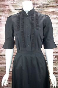 FRONTIER CLASSICS Victorian Black Lace Karen Blouse Dickens Steam punk SASS