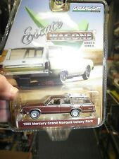 White 1:64 Scale GreenLight Collectibles . Greenlight 29930-F Estate Wagons Series 2-1989 Mercury Grand Marquis Colony Park