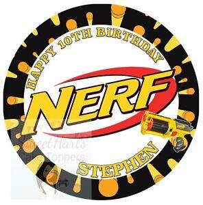 Nerf Birthday Cake Topper