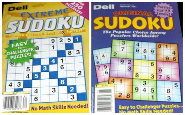 Lot of 2 Dell Pocket Sudoku Puzzle Magazines 2021 A13