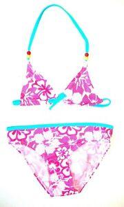 bieten viel Abstand wählen 2020 Details zu Mädchen Bikini Bikini-Set in pink/weiß/türkis 104 110 116 122  128 - NEU -