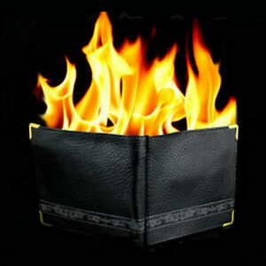 Magic-Trick-Flame-Fire-Wallet-Leather-Magician-Stage-Perform-Street-Prop-Show-JP